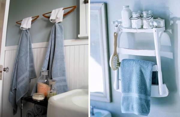 Настенный декор маленькой ванной комнаты - фото поделок
