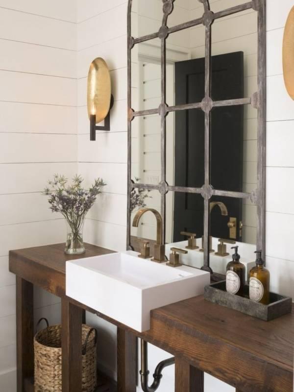 Как украсить зеркало в ванной своими руками рамкой от окна