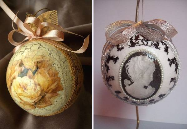 Новогодние шары своими руками - идеи с фото