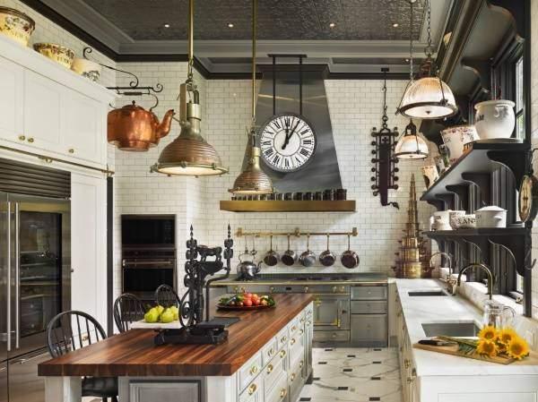 Стимпанк интерьер кухни