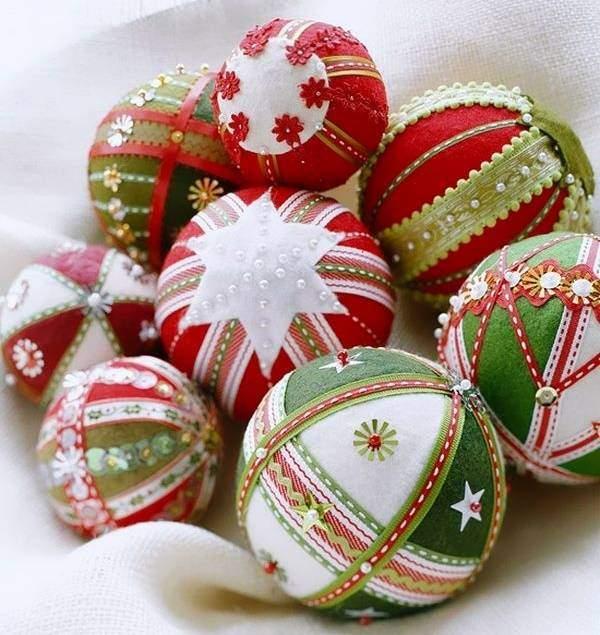 Фетровый новогодний шар на елку своими руками