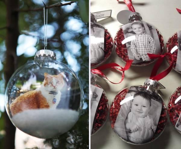 Как сделать шар новогодний с фото внутри