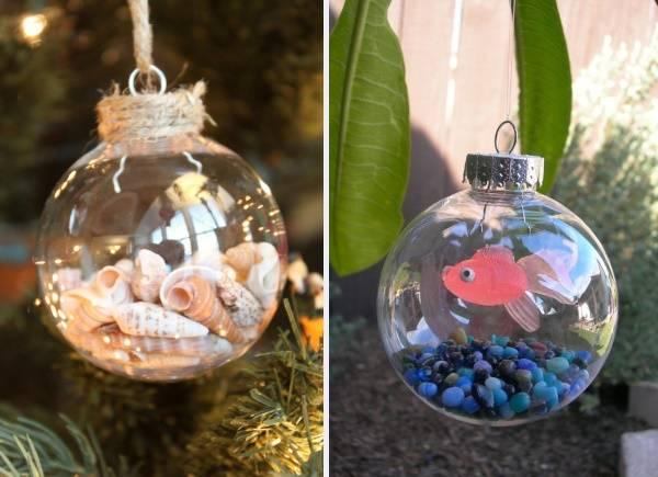 Прозрачные новогодние елочные шары своими руками