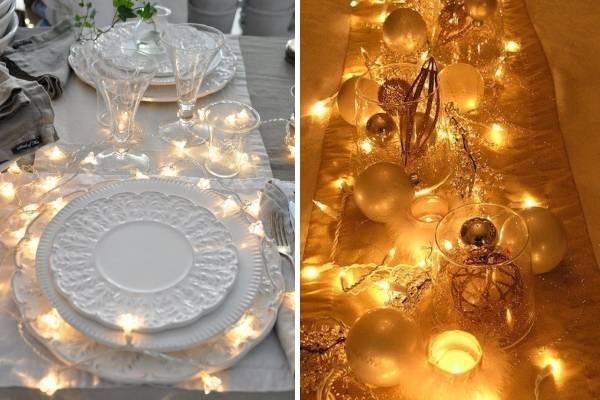 Гирлянда светодиодная как украшение новогоднего стола