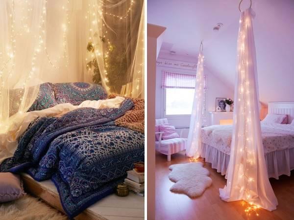 Как можно применить гирлянды светодиодные для дома