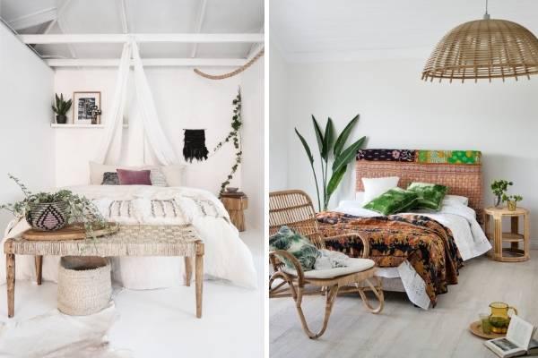 Как оформить спальню в стиле бохо - фото интерьеров