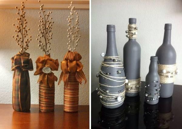 Ваза из стеклянной бутылки своими руками - фото лучших идей