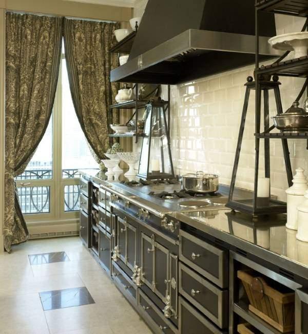 Стимпанк дизайн интерьера кухни - фото решения