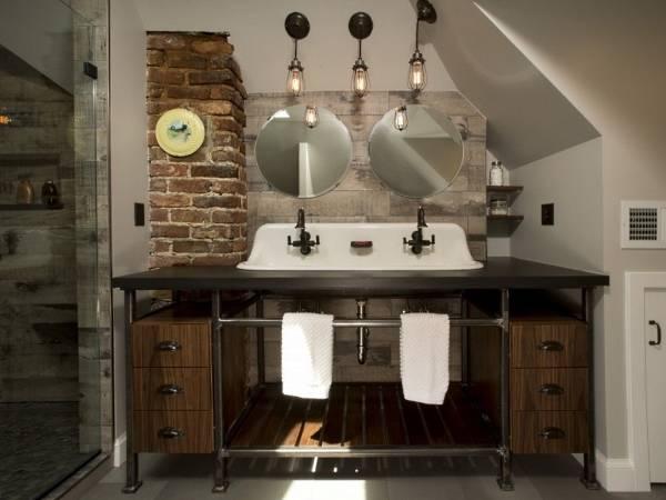 Ванная комната стимпанк - фото отделочных материалов