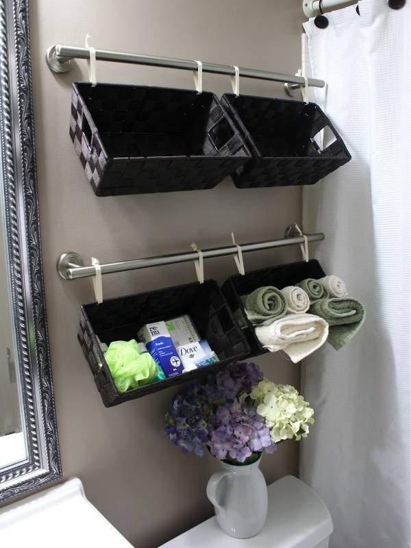 Как украсить ванную комнату своими руками - идея полки