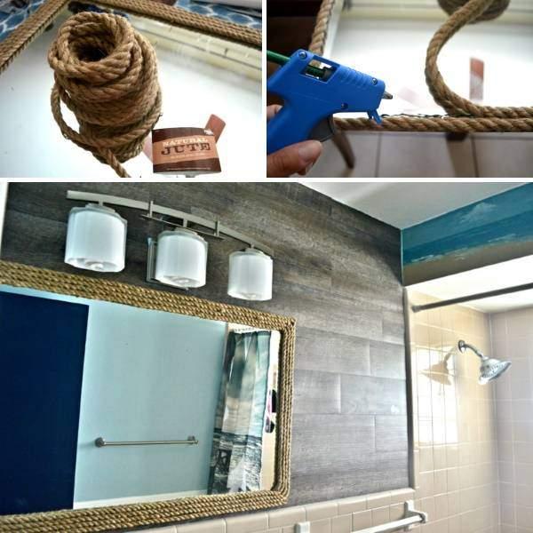 Декор зеркала ванной комнаты своими руками - фото пошагово