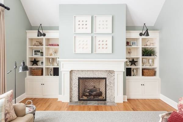 Как сделать камин своими руками в квартире - фото гостиной