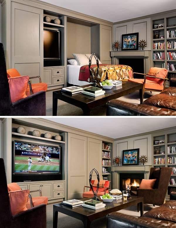 Как увеличить пространство в комнате - мебель трансформер