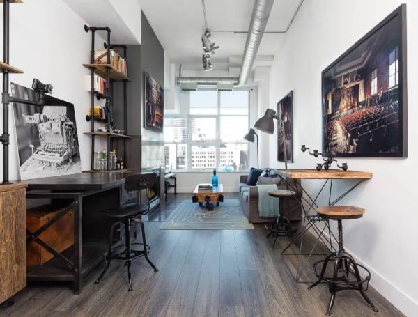 Дизайн комнаты в стиле стимпанк, индастриал и лофт