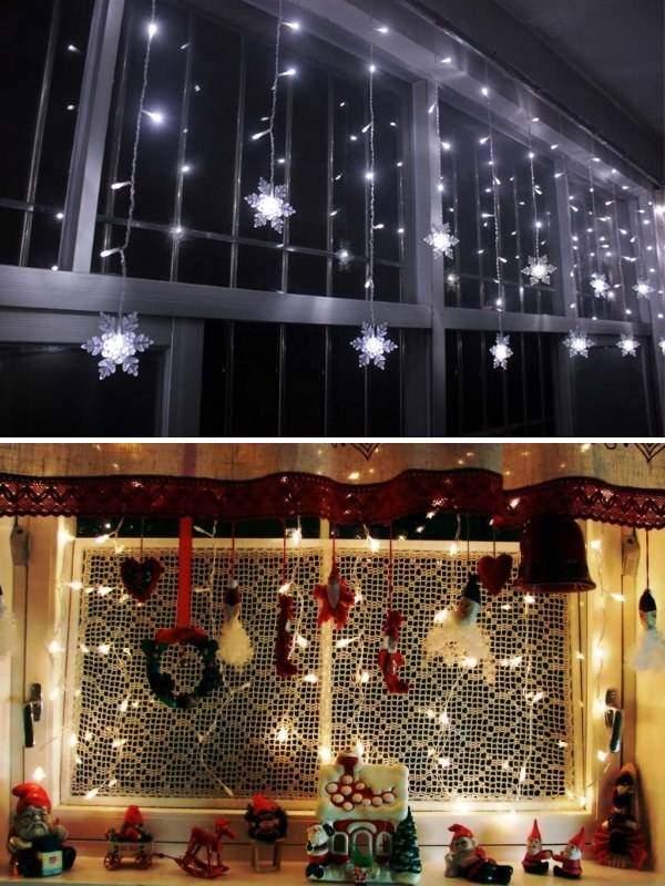 Как можно использовать новогодние гирлянды светодиодные для дома
