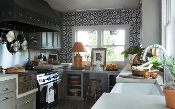 Маленькая кухня в стиле бохо в интерьере
