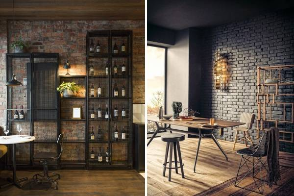 Дизайн комнаты в стиле стимпанк с металлической мебелью