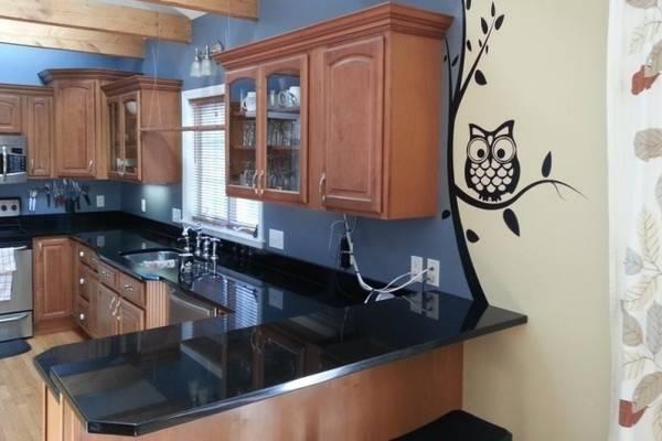 Наклейки на обои - декор стен на кухни