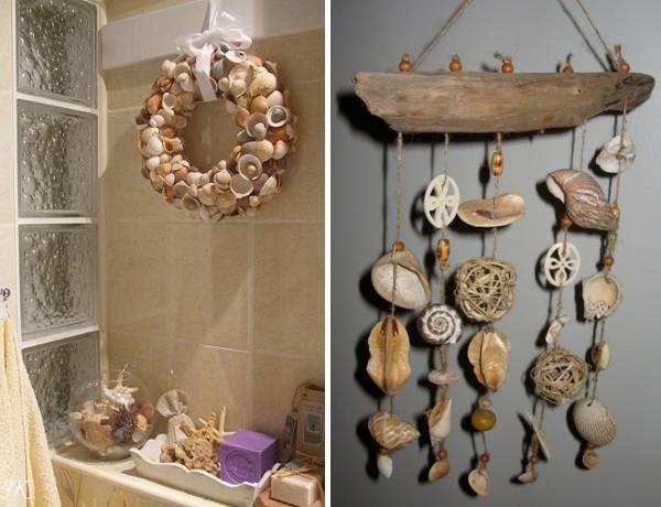 Как украсить стены в ванной ракушками своими руками