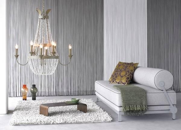 Красивые шторы кисея в интерьере - фото декора