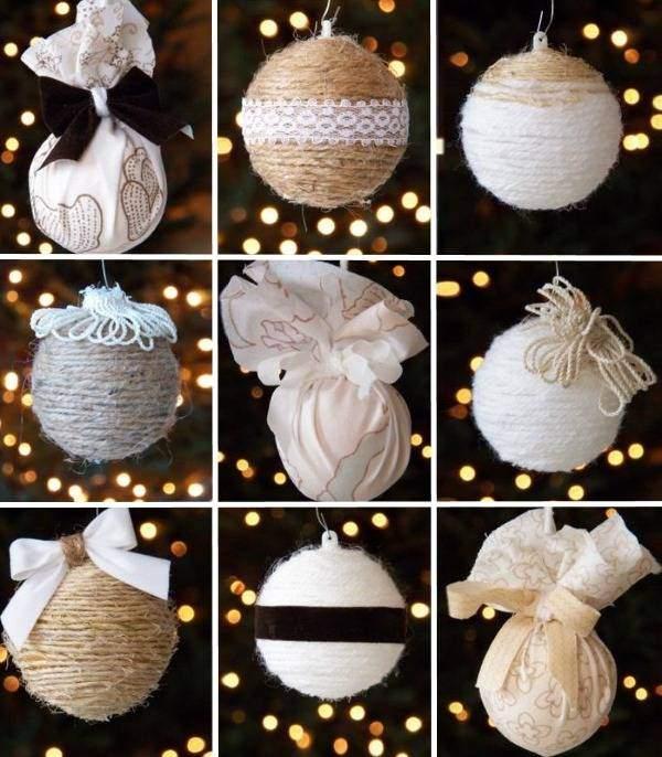 Новогодние шары из ниток своими руками - фото идей