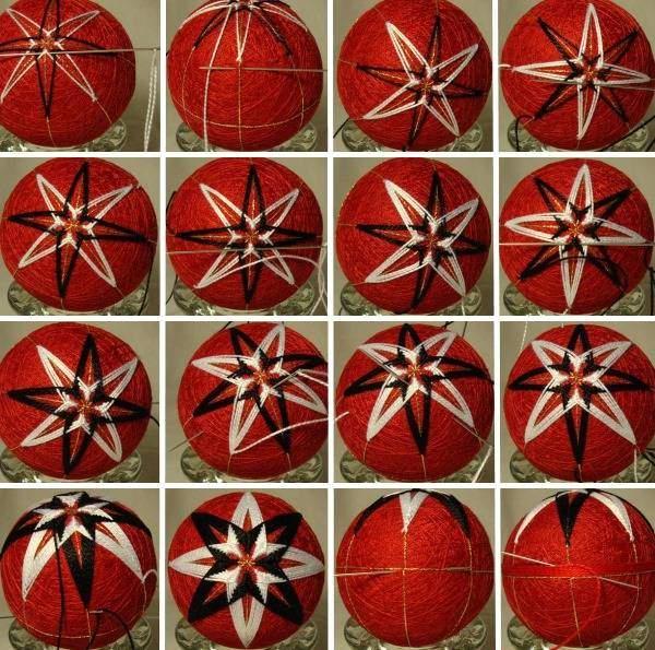 Новогодние шары своими руками - пошаговое фото темари
