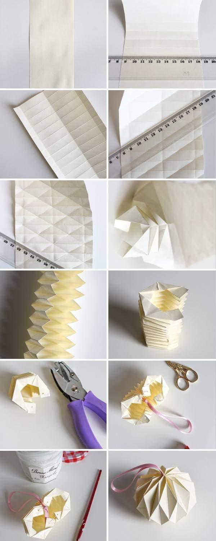 Оригами шары на Новый год 2017 своими руками