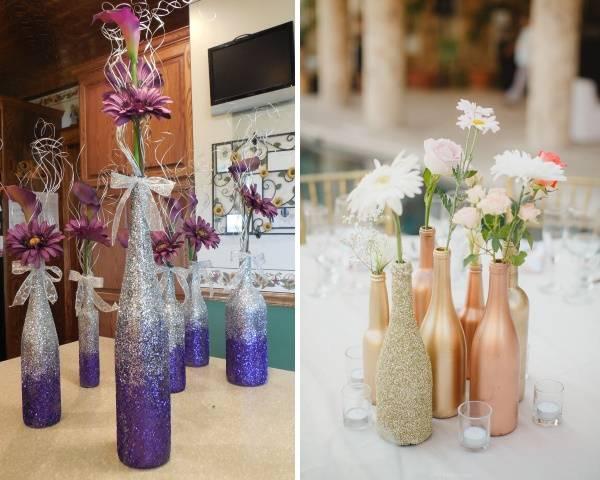 Как сделать из бутылки вазу своими руками на праздник