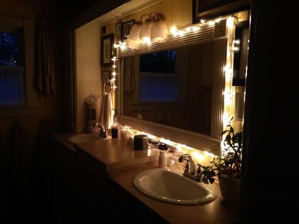 Украшение ванной светодиодной гирляндой