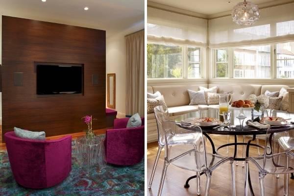 Как визуально увеличить маленькую комнату: прозрачная мебель из акрила