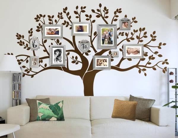 Семейное дерево - наклейки для декора стен