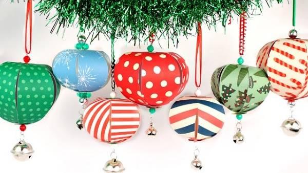 Новогодние игрушки своими руками из бумаги - шары на ёлку