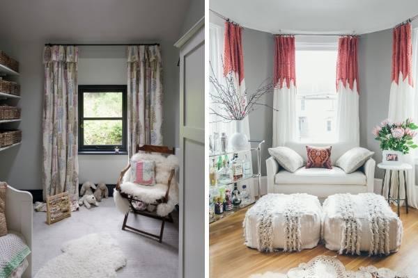Как визуально увеличить комнату с помощью штор