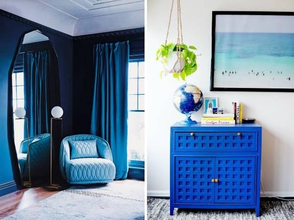 Синий цвет 2017 года - лазурит в интерьере