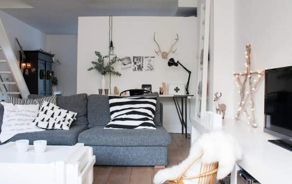 Новогодний интерьер квартиры в скандинавском стиле