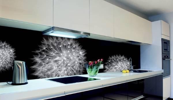 Фартуки для кухни из стекла - фотопечать фото в интерьере