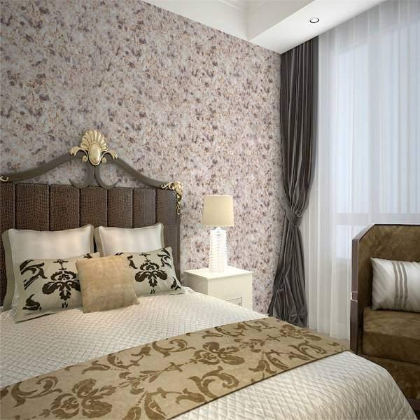 Шелковые жидкие обои - дизайн в интерьере спальни