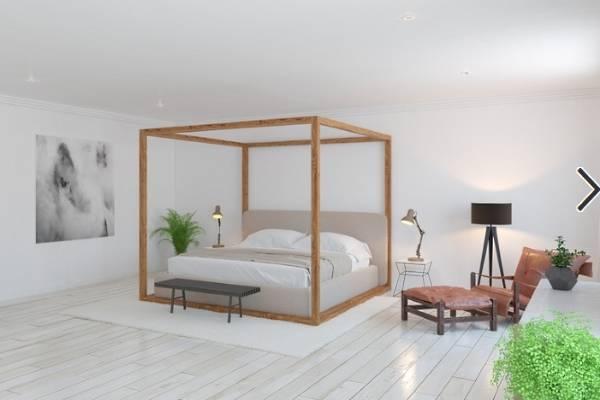 Скандинавский дизайн спальни 2017 - фото новинки кровати