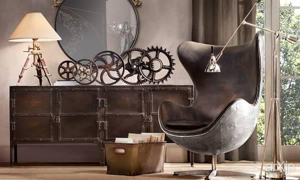 Декор и мебель в стиле стимпанк - фото в интерьере