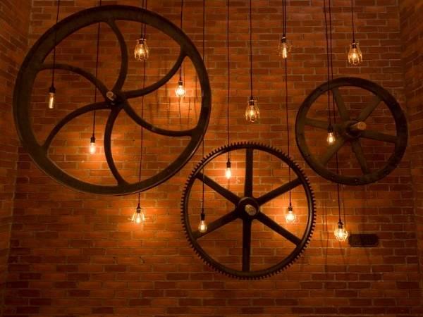 Настенный декор и светильники в стиле стимпанк