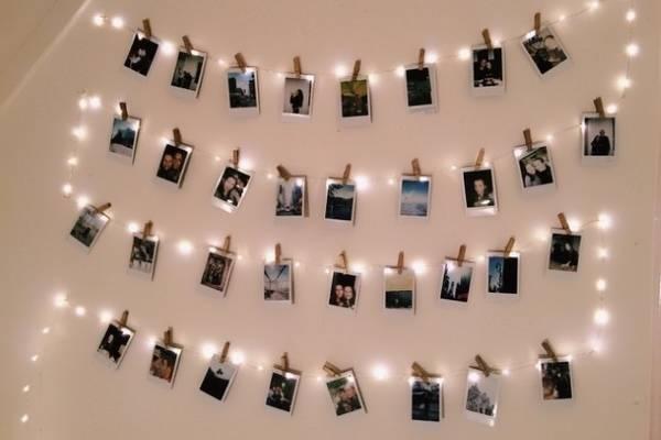 Гирлянда светодиодная белая - идеи декора стен на Новый год