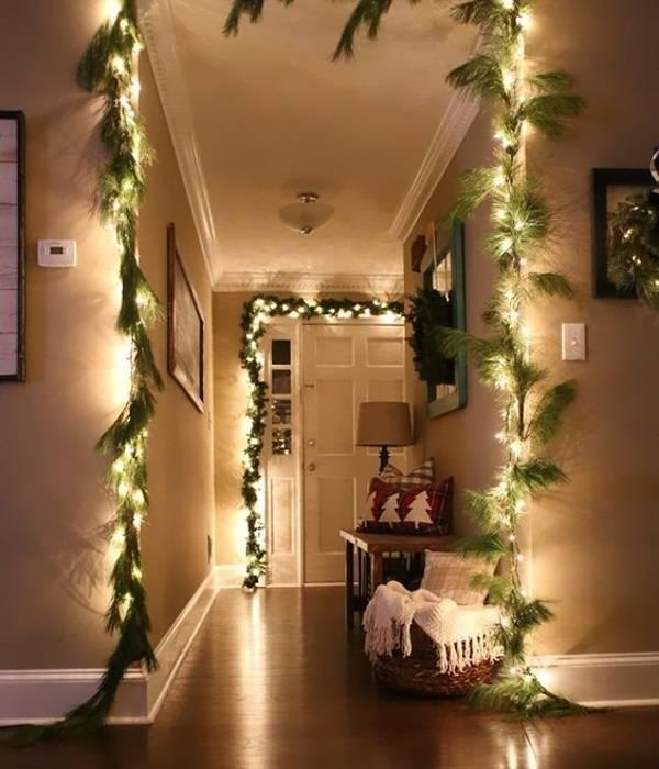 Гирлянда светодиодная белая - идея украшения дома на Новый год