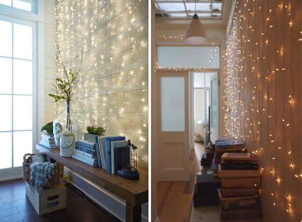 Гирлянда светодиодная - идеи украшения интерьера