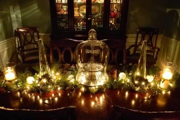 Гирлянды светодиодные для дома - идеи украшения стола