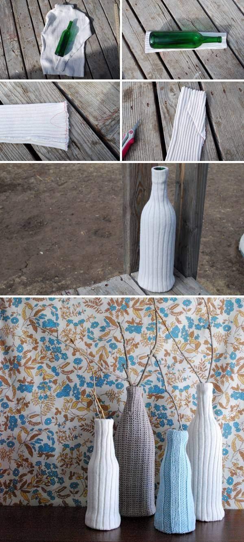 Как сделать красивую вазу своими руками из бутылки