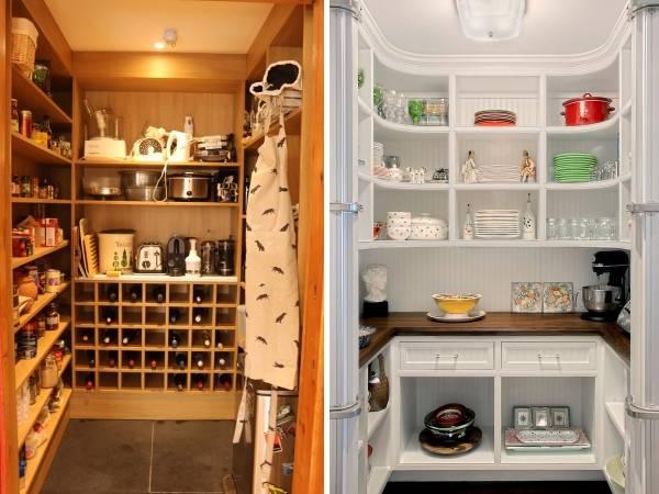 Встроенный шкаф в кладовку - фото интерьера