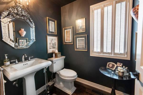 Черные стены в дизайне туалета