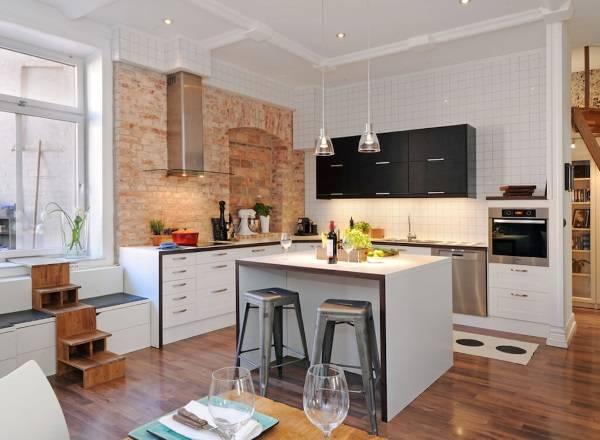 Интерьер кухни в стиле лофт - фото оригинального дизайна