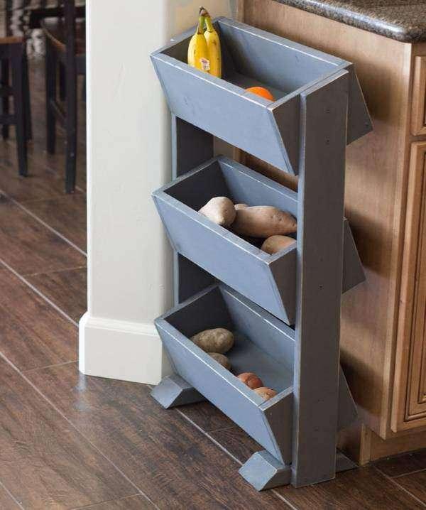 Кухонная этажерка с ящиками для овощей и фруктов