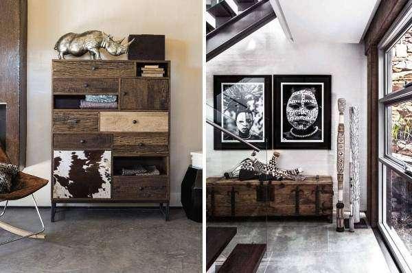 Африканская мебель и этнический декор в дизайне дома